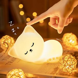 Cute Kitty Kids Night Light, Cat Kawaii Birthday Gifts Room Decor Bedroom Decora