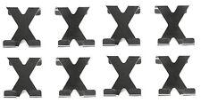 8x Türhaken Edelstahl | Tür Kleiderhaken Garderobe Kleiderbügel Garderobenhaken