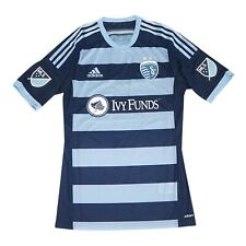 Sporting Kansas City MLS Adidas Men's Blue Climacool Authentic On-Field Jersey