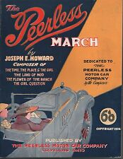 Peerless March 1917 Peerless Motor Car Company Sheet Music