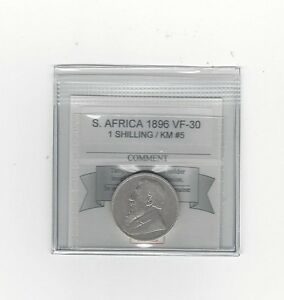 1896 South Africa, 1 Shilling, Coin Mart Graded**VF-30** KM #5
