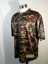 MMA Elite Lightweight Camo Short Sleeve Crew Neck Polyester Shirt Mens Size XL