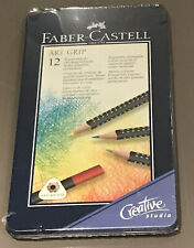 FABER -CASTELL 12 ART GRIP COLOUR PENCILS - SEALED BOX