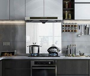 White Toughened Glass Sparkle Splashback for Kitchen, Heat Resistant Splashbacks