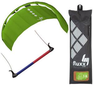HQ4 Fluxx 1.8 R2F Trainer Kite Kiteboarding Power Surf Kitesurf Beach Beginner