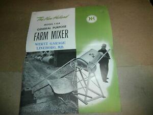 Original  New Holland 1-GA Farm Mixer Brochure Wertz Garage Lineboro MD
