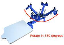 Used - 4 Color 1 Station Silk Screen Printing Machine Press Shirt Equipment