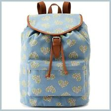 NWT $60 CANDIES Riley Floral Heart DENIM BLUE -  BACKPACK