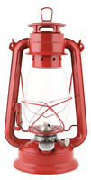 Kerosene OIl Lantern red glass globe indoors outdoors hurricane Weatherrite 5554