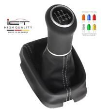ICT gear shift knob Honda Accord CU/CP/CW Acura TSX leather LED stitch silver 41