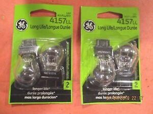 4157LL--GE--LOT OF 4----[2CARDS]--Turn Signal Light Bulb GE Lighting 4157LL/BP2