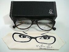 Lisa Loeb Eyewear Come Back 143 C4 Cocoa Aqua Eyeglasses Rx-Able Frame