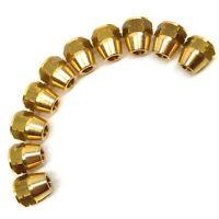 "Brass Brake Pipe Fittings M12 x 1mm Female 10 PACK for 1/4"" Pipe FL23"