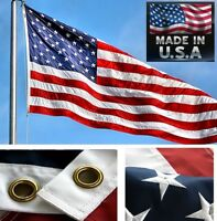 USA MADE 3x5 US NYLON FLAG EMBROIDERED&SEWN 2-SIDED UNITED STATES AMERICA Banner