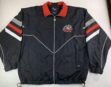 Odessa Jackalopes Black Minor League Hockey Coat Jacket SZ Large L Full Zip NAHL