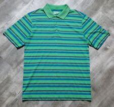 Nike Golf Dri Fit Striped Polo Shirt Men's size Small Green Tour Performance