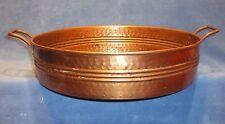 "Vintage Rustic Copper Bowl Pan 16"" x 3 1/2"""