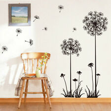 Removable Home Room Decor Dandelion Fly Wall Sticker Flower Mural PVC Decal New