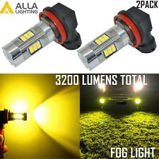 Alla Lighting H11 27-LED Fog Light Bulb Replacement Lamp Gold Yellow