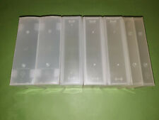 6 Double Size Large Big Empty VHS Video Storage Cases