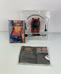 The X Factor LS-100 Belt Pack Amplifier with Headset Mic - Red/Black