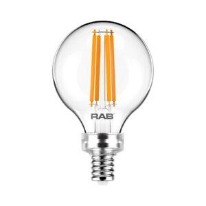 RAB 4W 2700K Candelabra G16.5 Vintage LED Bulb Replaces 40W G16.5-3-E12-927-F-C