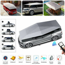 Universal Automatic Car Umbrella Tent Shade Cover Remote Control Waterproof Grey