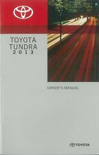 2013 Toyota Tundra Owners Manual User Guide Reference Operator Book