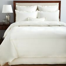 HUDSON PARK Italian Percale CAL KING Bedskirt Ivory / Ivory Embroidery D5008