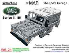 Sheepo's Lego Technic Land-Rover Series III 88 Bodywork(MAP) ONLY INSTRUCTIONS