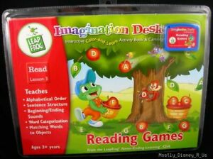 New Leap Frog Imagination Desk Reading Games Lesson #3 Sealed Leapfrog