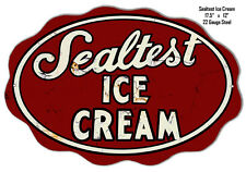 Sealtest Ice Cream Laser Cut Out Reproduction Metal  Sign 12×17.5