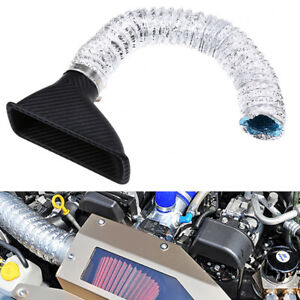 Universal Car Front Bumper Air Intake Filter Injection System  Funnel Pipe Kit