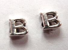 """The Letter """"B"""" Stud Earrings 925 Sterling Silver Corona Sun Jewelry b"""