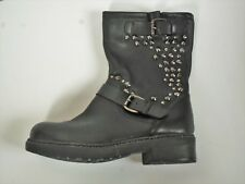 ladies Clarks boots with studs Langport Piper womens size 4 D leather bikers