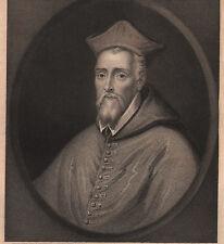 1835 DATED GEORGIAN PRINT ~ CARDINAL ALLEN ~