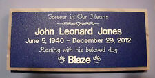 PERSONALIZED PET MEMORIAL STONE GRAVE MARKER TREE DEDICATION GARDEN DECORATION