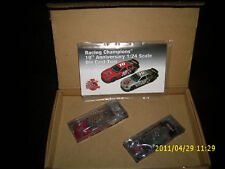 10 YEARS RACING CHAMPIONS set of 2 CARS RED AND CHROME