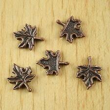 25pcs copper-tone maple leaf charms  H2148
