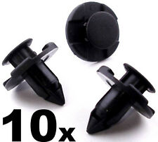 10x 8mm Plastic Rivet Trim Clips for Bumpers Splashguards Wheelarch Liner