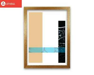 Blue Sand Abstract Rectangles Modern Print