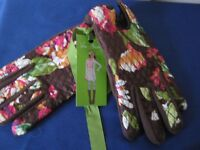 Vera Bradley Cozy Quilted Fleece Driving Gloves ENGLISH ROSE Sz S/M New w/ Tag
