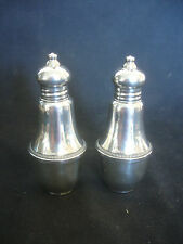 Old Vtg Duchin Sterling Silver Salt & Pepper Shakers Set With Design