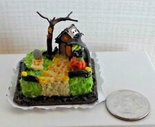 Dollhouse Miniature Halloween Witch Hideaway Sheet Cake Bright deLights 1:12