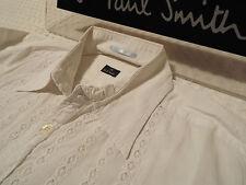 """Paul Smith Da Uomo Camicia 🌍 taglia S (circonferenza petto 40"""") 🌎 RRP £ 95+ 📮 Broderie Anglaise"""