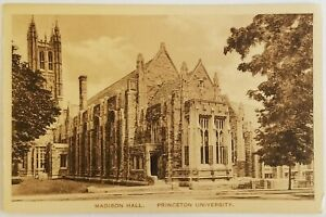 Madison Hall Princeton University New Jersey Postcard antique