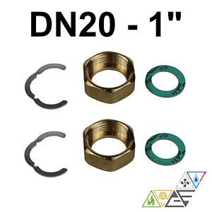 "Verschraubung Fittingsatz Montage Set 1"" Edelstahl Wellrohr DN20 Solar"