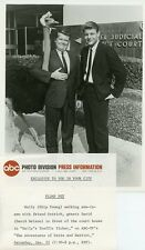 DAVID NELSON SKIP YOUNG OSTRICH ADVENTURES OF OZZIE AND HARRIET '62 ABC TV PHOTO
