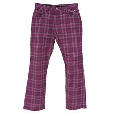 Oakley SKULL Misty Bellbottom 3.0 Size 32 M Mens Purple Shade Plaid Golf Pants