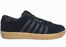 K-Swiss Men's Hoke Suede CMF Casual Shoe, Black/Gold/Gum, 11 M US